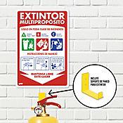 Señal Extintor 10lb Multipropósito 22x15cm