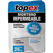 Mortero impermeable gris 25 kilos, Topex