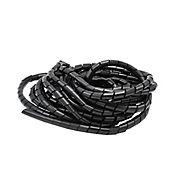 Protector cables 1,9 cm x 10 metros negro