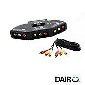 Selector rca audio-video conector 3 equipos vta