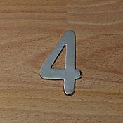 Número Niquel Satinado # 4