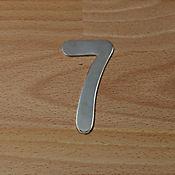 Número Niquel Satinado # 7