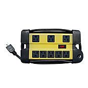 Multitoma de uso pesado 8 salidas con supresor 90 voltios