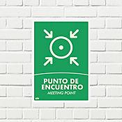 Señal Punto Encuentro 35x24cm Fotoluminisente Adhesivo
