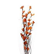 Follaje artificial bouquet naranja