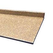 Kit de Mesón Postformado Mármol Coral 2.4x0.60 metros