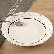 Plato para taza leaf cerámica