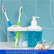 Dispensador jabón portacepillos translucido