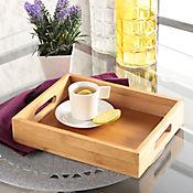 Bandeja Rectagunlar en Bambu de 25.5 x 20.5 x 5 cm