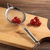 Colador 12 cm acero mango ovalado