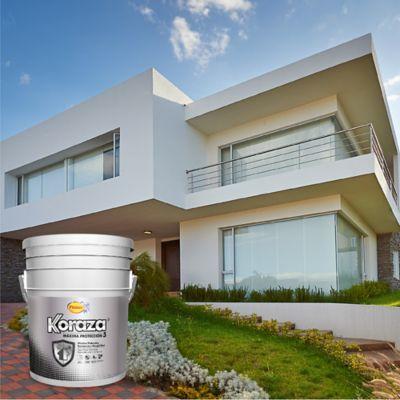 Pintura Koraza Blanco 5 Galones Exterior Homecenter Com Co