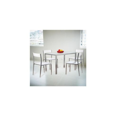 Comedor 4 Puestos 100x65x76cm Blanco Home Collection - Homecenter.com.co
