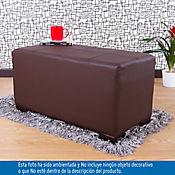 Puff Ontario Doble 38x80x40 cm Chocolate