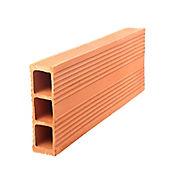 Ladrillo horizontal 3 huecos 9x20x80 9.5k 6.25und/m2