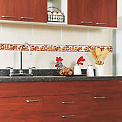 Listello para Cocina Snack 8x25 Centímetros Café