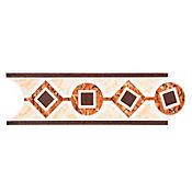 Listello para Baño Geos 8x25 cm Café