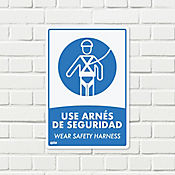 Señal Uso Obligatorio Arnés 22x15cm