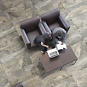 Piso Cerámico Piedra Bonita Rectangular 41x90 cm Caja 1.11 m2 Negro