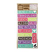 Sticker Eco Palabras Felices