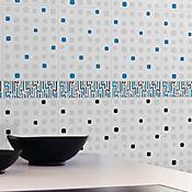 Listello para Baño Dinamarca 7.6x25 cm Azul