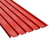 Teja Termoacustica UPVC FORTE 5.9 x 0.94m espesor 2mm Rojo exterior / Blanco Interior