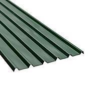 Teja Termoacustica UPVC FORTE 5.9 x 0.94m espesor 2mm Verde exterior / Blanco Interior