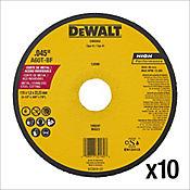 Disco Abrasivo 4-1/2 Pg Corte Metal Pack X 10 Und