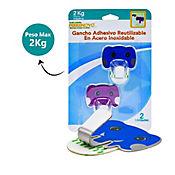 Gancho Adh Elefantes Reutilizable x 2 P.M.2kg