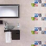 Base Cerámica Decorada para Baño Boreal 30.1x75.3 Centímetros Multicolor