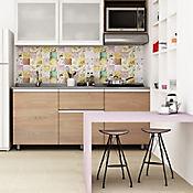 Base Cerámica Decorada para Cocina Vintage 30.1x75.3 Centímetros Multicolor
