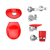 Kit happy tapa y accesorios color  rojo