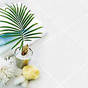 Piso Cerámico Mikonos Ard 33.8x33.8 Centímetros Caja 1.6m2 Blanco
