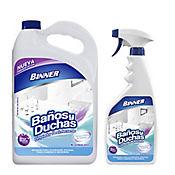 Limpiador Desinfectante Baños y Duchas 1 Galon + 700ml