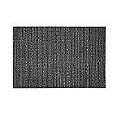 Individual PVC Imitación Cuero Negro  43x30cm