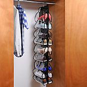 Organizador De Zapatos 18 Bolsillos  Closet 125x32 cm Negro