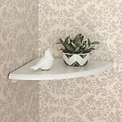 Repisa Esquinera Blanca de 30 x 30 cm