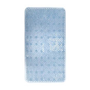 Tapete para Baño Antideslizante Grass 35x63 cm Azul