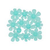 Set x5 Antideslizantes para Baño Flores Transparente