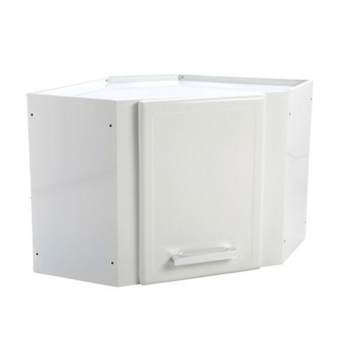 Mueble Superior Esquinero para Cocina Gourmet 68x68 cm 1 Puerta Blanco