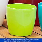 Maceta Roto Brillante Verde 18X17Cm