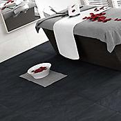 Piso Pared Cerámico Basáltico Negro 32.3x56 cm Caja 1.45 m2