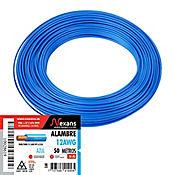 Alambre #12 50m Azul