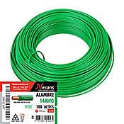 Alambre #14 100m Color Verde
