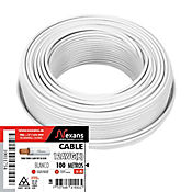 Cable #12 100m Blanco