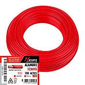 Alambre N12 100M Rojo Nexans