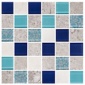 Mosaico Antares azul 30 x 30 cm ve