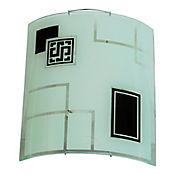 Aplique Cuadrado Vidrio 1 Luz Rosca E27 60w Negra