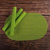 Set de 4 Individuales Diseño Wafle Verde