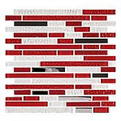 Mosaico Cerámico Cuarzo 30x30.6 Centímetros Rojo