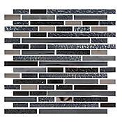 Mosaico Cerámico Cuarzo 30x30.6 Centímetros Negro